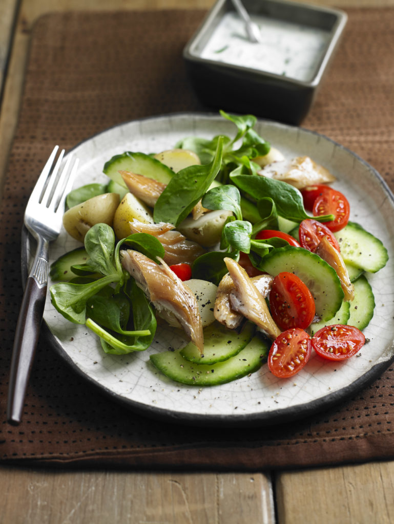 smoked mackerel and potato salad