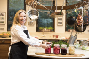 Jenny in her kitchen with her pickled beetroot